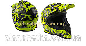 Шлем для мотоцикла Hel-Met 116 кроссовый Neon Yellow XS/S