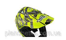 Шолом для мотоцикла Hel-Met 116 кросовий Neon Yellow XS/S, фото 2