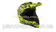 Шолом для мотоцикла Hel-Met 116 кросовий Neon Yellow XS/S, фото 3