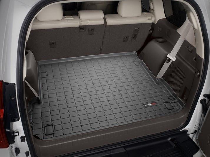 Ковер резиновый WeatherTech Toyota LC150 2009-2018 в багажник черный (для 3-х зонного климата) c 3-м рядом