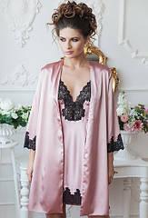 Комплект жіночий халат+сорочка Luxemburg. ТМ Komilfo. S