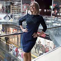 Платье комбинированное офисное