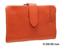 Компактный женский терракотавый кожаный кошелек , фото 1