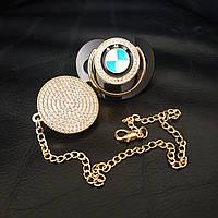 Пустышка, соска со стразами BMW и держатель, комплект, фото 1