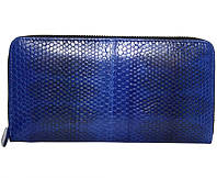 Кошелёк из кожи морской змеи.EXCLUSIVE SN 11 P Dark Blue