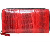 Кошелёк из кожи морской змеи.EXCLUSIVE SN 11 P Fire red
