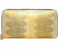 Кошелёк из кожи морской змеи.EXCLUSIVE SN 11 P Gold