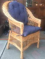 Кресло плетеное с накидкой   кресло плетеное с подушкой   кресло плетеное натуральное