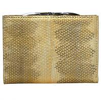Кошелёк из кожи морской змеи.EXCLUSIVE SN 85 Gold