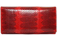 Кошелёк из кожи морской змеи.EXCLUSIVE SN 53 Fire red