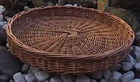 Круглый плетеный поднос | поднос из лозы с лозы | поднос плетеный круглый большой