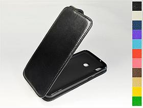 Откидной чехол из натуральной кожи для Samsung Galaxy M20 2019 M205