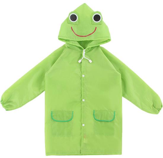 Плащ - дождевик детский Лягушка Зеленый 110-120 см УЦЕНКА