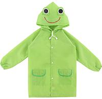 Плащ - дождевик детский Лягушка Зеленый 110-120 см УЦЕНКА, фото 1