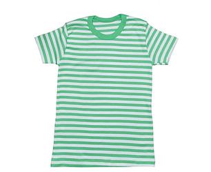 Зеленая полосатая футболка детская  летняя без рисунка трикотажная хлопок Украина