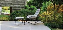 Кресло-качалка LEAF дизайнерская напоминает прожилки листьев из металла