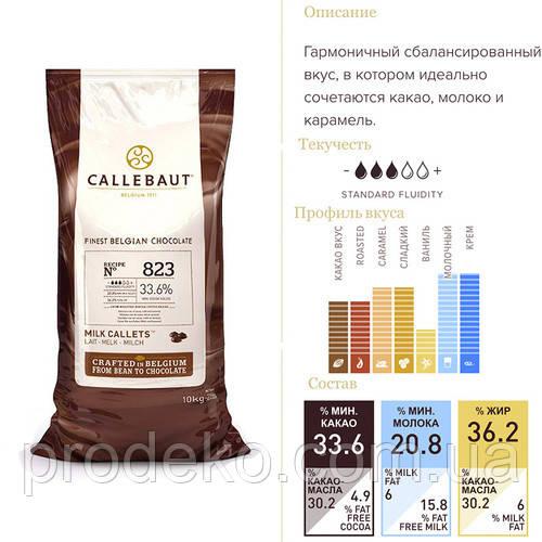 "Шоколад кувертюр молочный ""Callebaut Select"" 33,6 % какао, каллеты 10 кг"