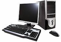 Компьютер в сборе,Intel Core I3, 4 ядра по 2,93 ГГц, 4 Гб DDR-3 - 1600 МГц,  HDD 80 Гб , монитор 17 дюймов