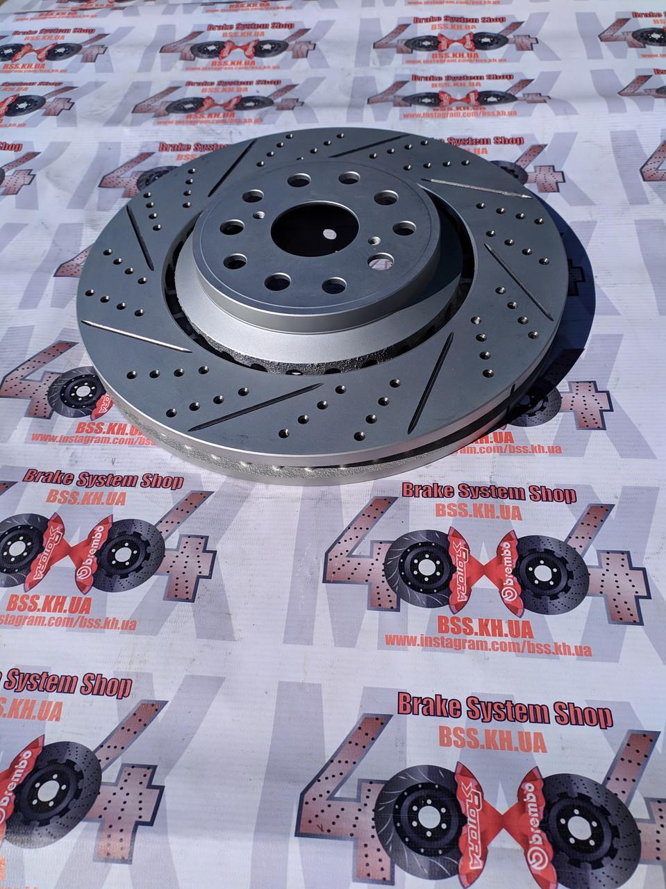 Диск тормозной передний R1 CONCEPTS CARBON GEOMET LEXUS LS460 / LS600   357mm