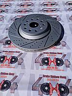 Диск тормозной передний R1 CONCEPTS CARBON GEOMET LEXUS LS460 / LS600   357mm, фото 1