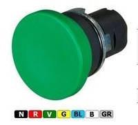 """New Elfin, Кнопка 2-ної дії (1-е натиснення - """"пуск""""; 2-е натиснення - """"стоп""""), цоколь - круглий, металевий, червона, ne020PPTAIRW"""