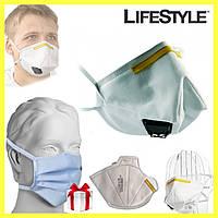 Защитная маска 3M К111 FFP1 / Респиратор защитный  + Подарок 10шт одноразовых масок