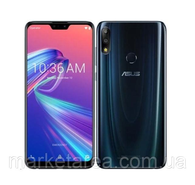 Смартфон с большим дисплеем и хорошим аккумулятором Asus ZenFone Max Pro M2ZB631KL 4/64 гб blue NFC