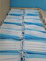 Маска защитная для лица респиратор повязка на резинках одноразовая фильтрующая захистна синяя 500 шт опт