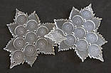 Органайзер акриловый  для набора бисера трилистник, 10 шт. на палитре. Размер общий 131Х131 мм, фото 4