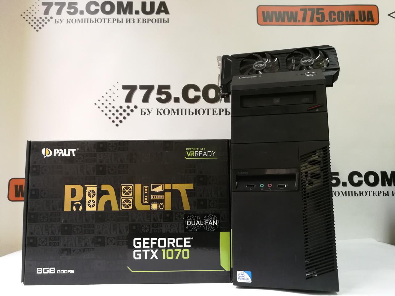Игровой компьютер Intel Core i7 3.9GHz, RAM 16ГБ, SSD 120ГБ, HDD 500ГБ, GTX 1080 8ГБ, гарантия 6 мес