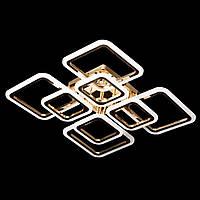 Светодиодная квадратная люстра с пультом управления золото 192W DIMMER 3000-6000 H120*L600*W600