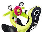 Детский трехколесный велосипед коляска 3в1 Baby Driver Smoby 741201 с ручкой, корзиной для детей, фото 3