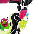 Детский трехколесный велосипед коляска 3в1 Baby Driver Smoby 741201 с ручкой, корзиной для детей, фото 4