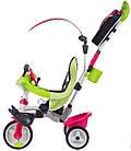 Детский трехколесный велосипед коляска 3в1 Baby Driver Smoby 741201 с ручкой, корзиной для детей, фото 2