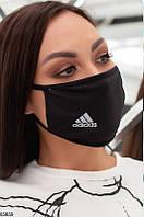 """Многоразовая молодежная маска с эмблемой """"Adidas"""""""