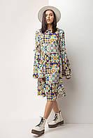 Платье женское, цвет: multi-color, размер: 2XL, L, M, S, XL