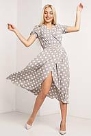 Красивое модное летнее женское платье 2020 цвет: серый, размер: 2XL, 3XL, 4XL, L, M, S, XL