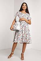 Красивое модное летнее женское платье 2020 цвет: белый, размер: 2XL, 3XL, 4XL, L, M, S, XL