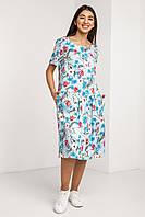 Красивое модное летнее женское платье 2020 цвет: синий, размер: 2XL, L, M, S, XL