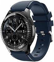 Оригинальный ремешок Samsung Gear S3 / Galaxy Watch 46mm / Watch GT/ Amazfit Stratos (22мм) Темно-синий (07866-15403)