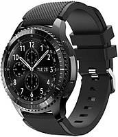 Оригинальный ремешок Samsung Gear S3 / Galaxy Watch 46mm / Watch GT/ Amazfit Stratos (22мм) Черный (07866-15405)