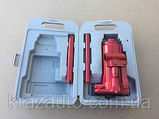 Домкрат бутылочный, 5т пластик, красный H=195/380