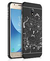 Резиновый чехол Samsung Galaxy J3 2017 Dragon Черный (05649-9892)