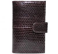 Визитница из кожи морской змеи.EXCLUSIVE SNCH 18-1 Brown
