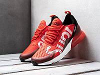 Красные кроссовки Nike Air Max 270 Supreme Red (Найк Аир Макс Суприм) мужские и женские размеры