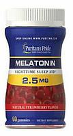 Puritan's Pride Melatonin Gummy 2.5 mg Strawberry Flavor 60 Gummies