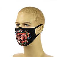 """Многоразовая маска на лицо """"gucci gang"""""""