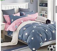 Комплект стильного постельного белья семейка, милые звезды