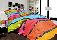 Комплект разноцветного постельного белья, двухспалка, радуга
