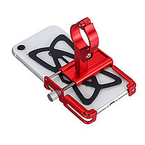 Алюминиевый сплав велосипед мотоцикл руль держатель телефона с Силиконовый ремешок для 3,5-дюймовый 6,2-дюймовый смартфон-1TopShop, фото 3